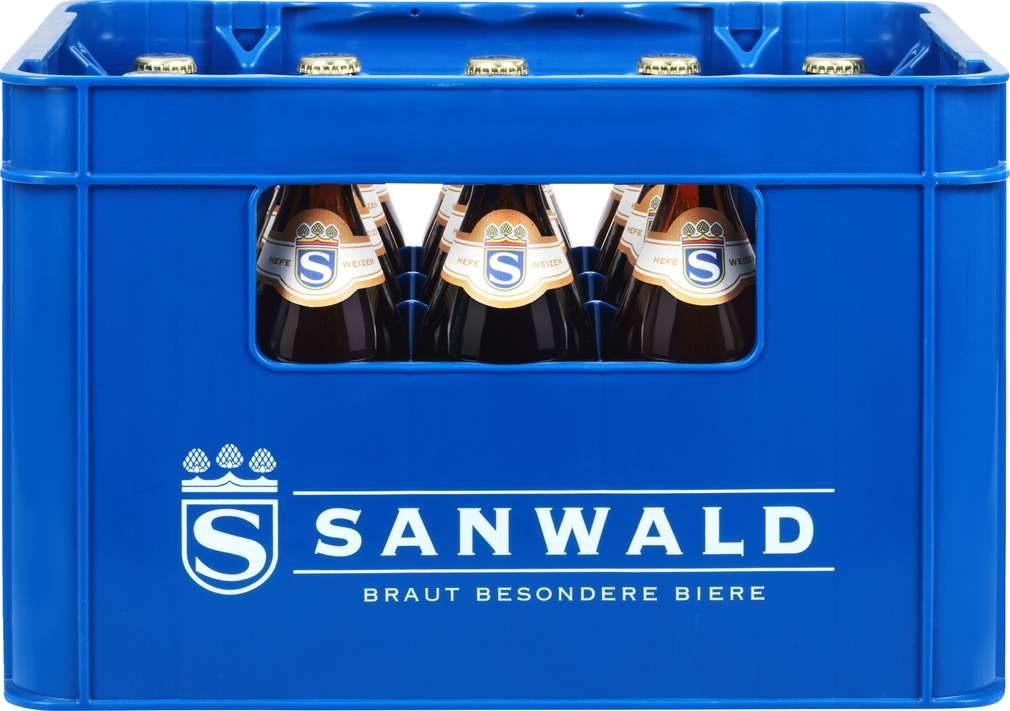 Abbildung des Sortimentsartikels Sanwald Sanwald Hefeweizen 20x0,5l