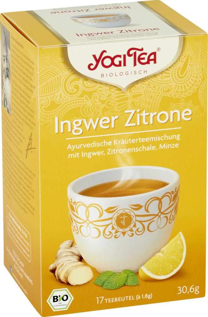 Abbildung des Sortimentsartikels Bio Yogi Tee Ingwer Zitrone 17x1,8g