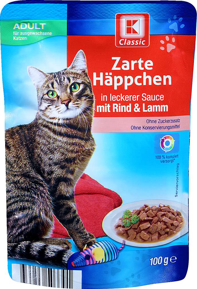 Abbildung des Sortimentsartikels K-Classic Zarte Häppchen mit Rind & Lamm