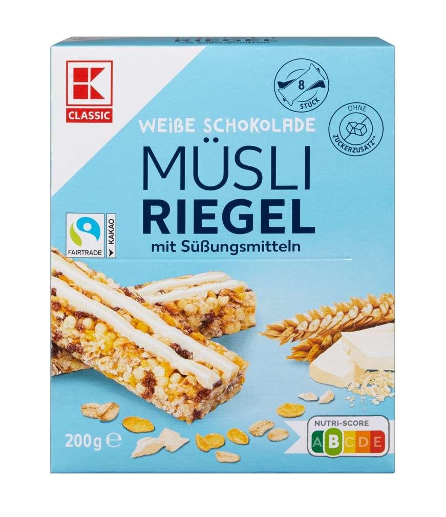 Abbildung des Sortimentsartikels K-Classic Müsliriegel weiße Schokolade 200g