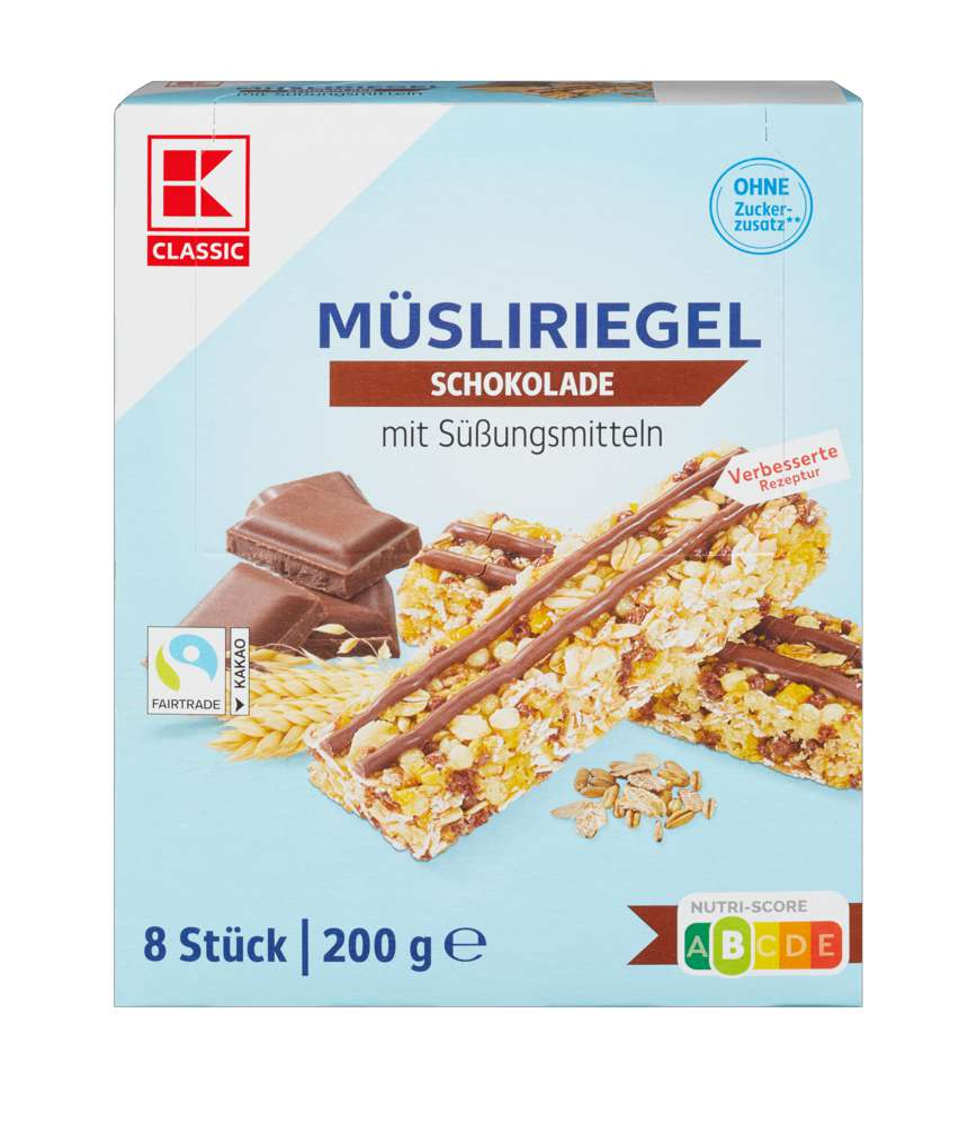 Abbildung des Sortimentsartikels K-Classic Müsliriegel Schoko free 8x25g