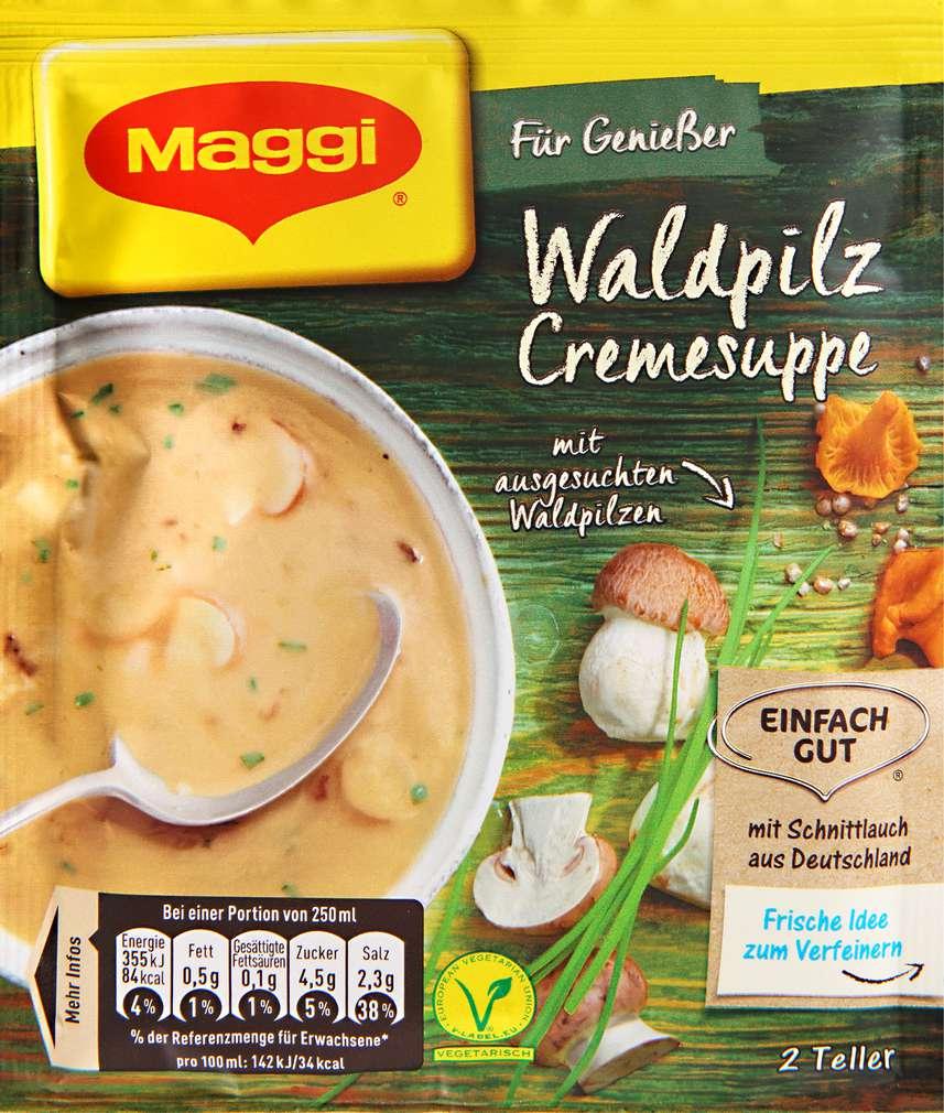 Abbildung des Sortimentsartikels Maggi Für Genießer Waldpilz Creme Suppe ergibt 500 ml
