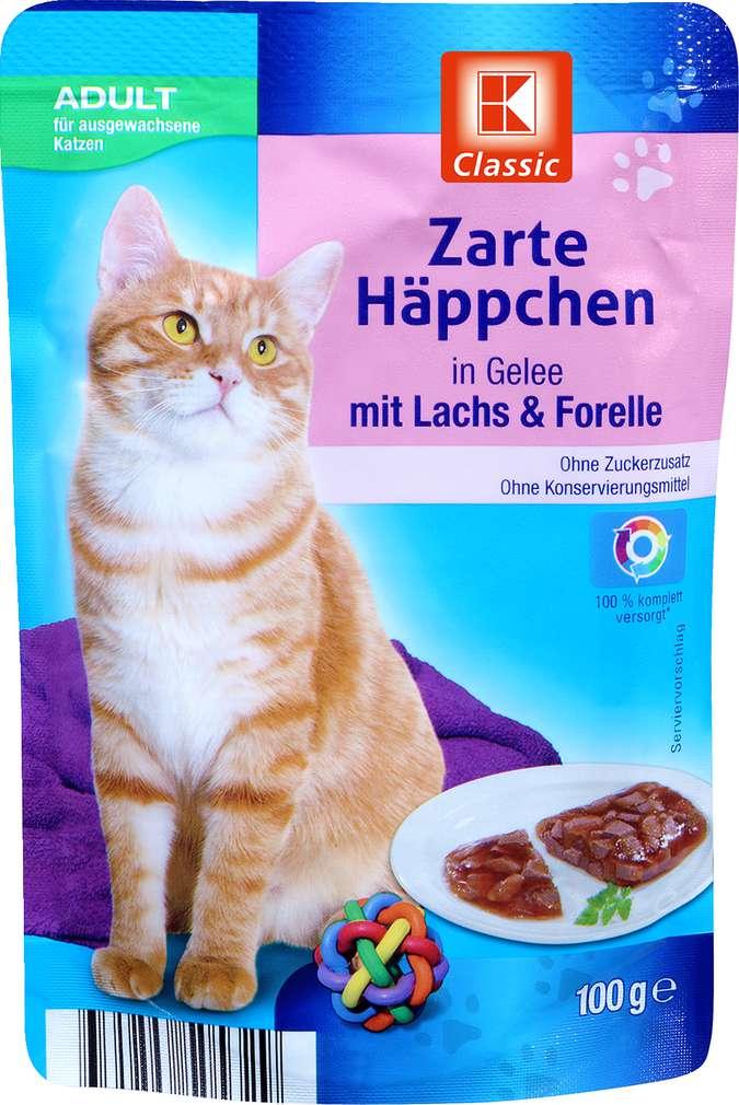 Abbildung des Sortimentsartikels K-Classic Zarte Häppchen mit Lachs & Forelle 100g