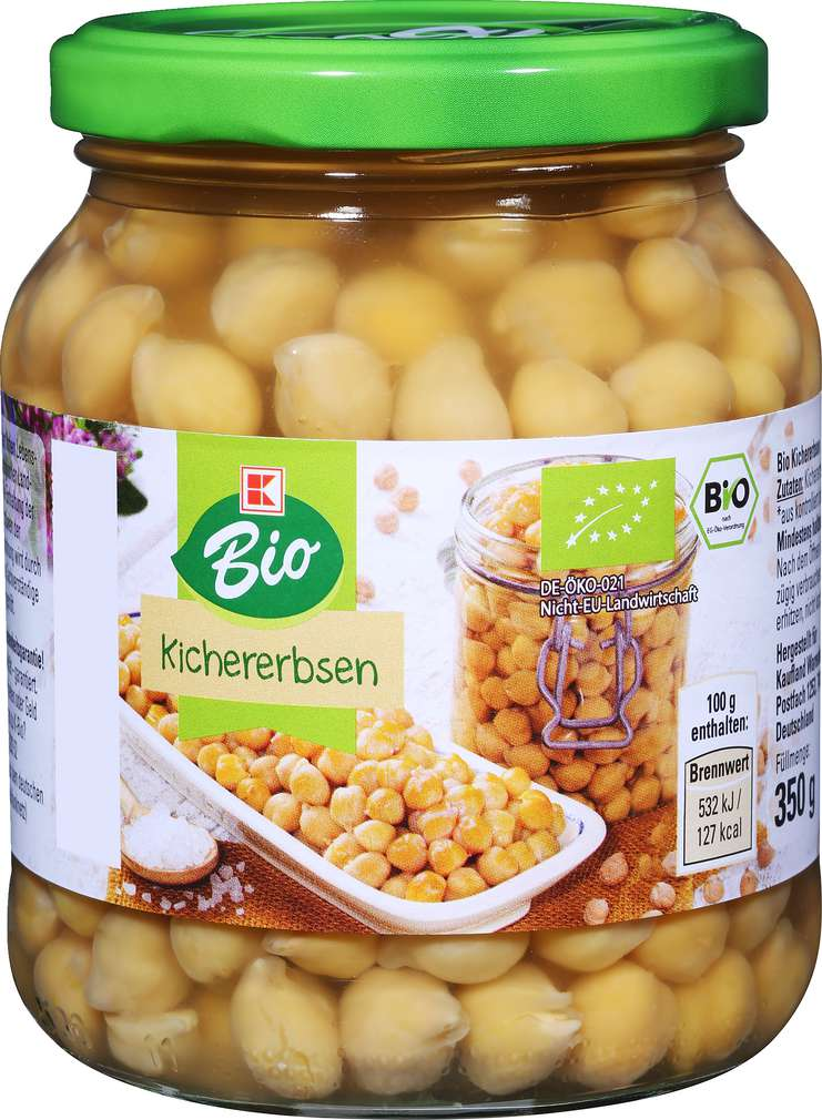 Abbildung des Sortimentsartikels K-Bio Kichererbsen 350g