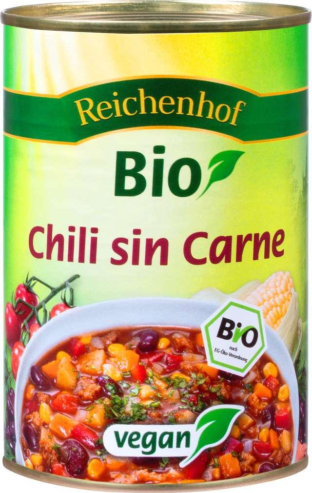 Abbildung des Sortimentsartikels Reichenhof Bio Chili Sin Carne Feuriger Topf 400g