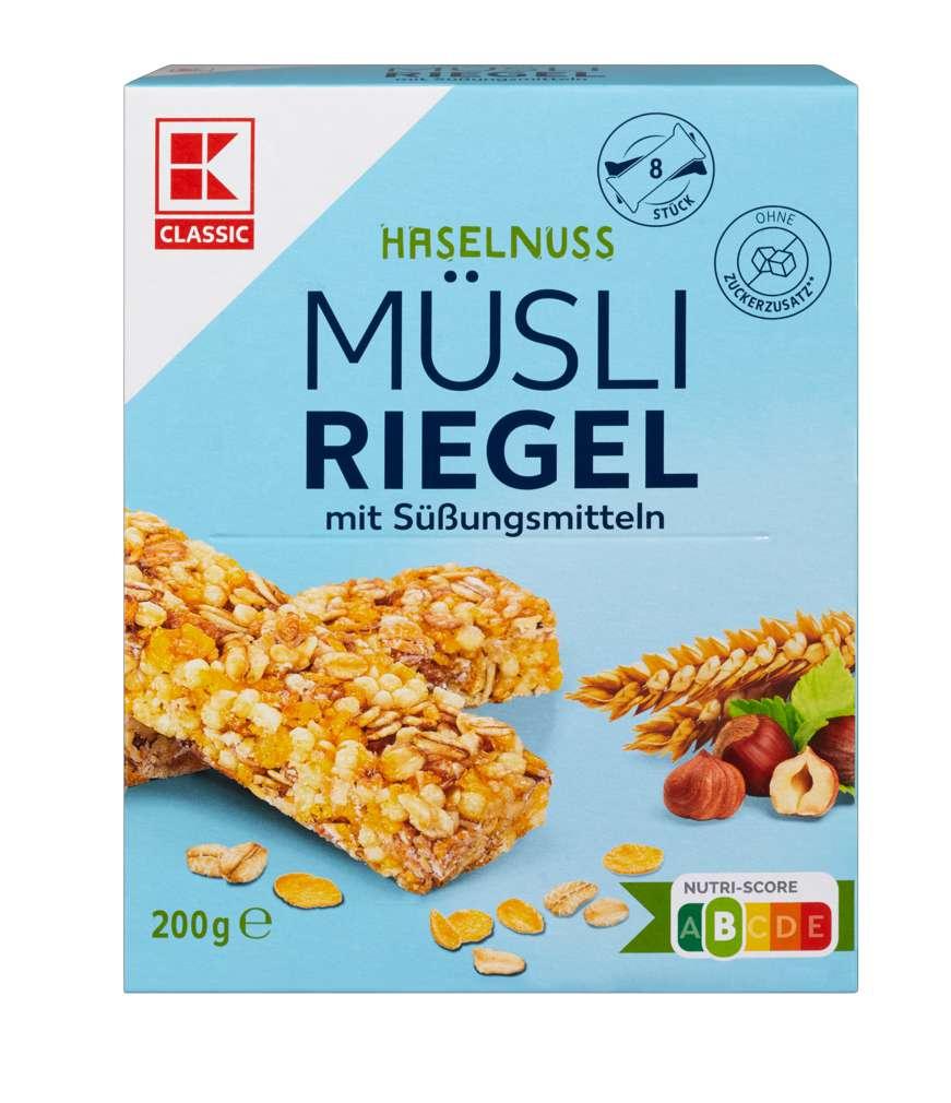 Abbildung des Sortimentsartikels K-Classic Müsliriegel Haselnuss free 8x25g