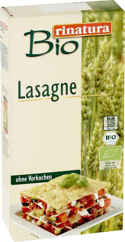 Abbildung des Sortimentsartikels Rinatura Lasagneplatten 250g