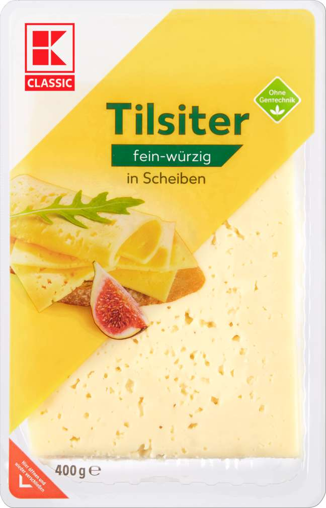 Abbildung des Sortimentsartikels K-Classic Tilsiter in Scheiben 45% Fett i. Tr. 400g