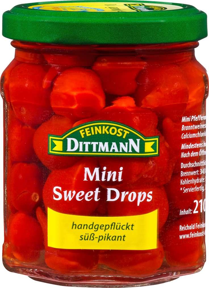 Abbildung des Sortimentsartikels Feinkost Dittmann Mini Sweet Drops 210g