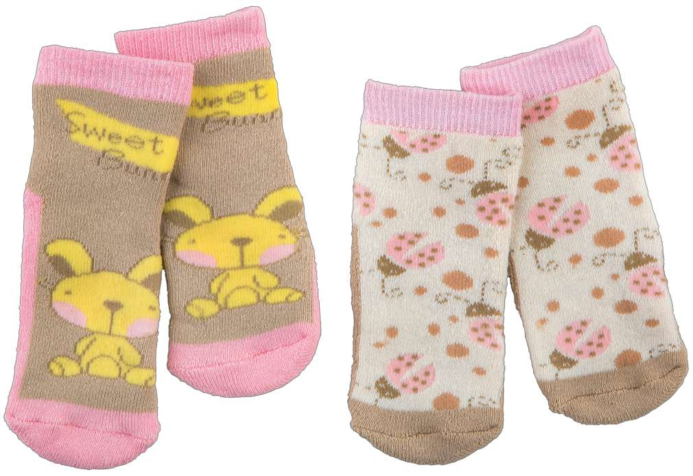 Abbildung des Sortimentsartikels Kuniboo Baby Socken Vollfrottee Gr. 62/68 - 74/80 2 Paar