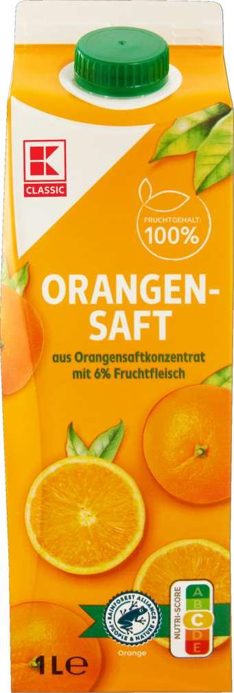 Abbildung des Sortimentsartikels K-Classic Orangensaft mit 6% Fruchtfleisch 1,0l