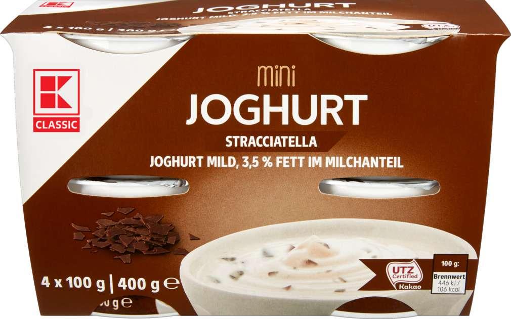 Abbildung des Sortimentsartikels K-Classic Mini Joghurt mild Stracciatella 4x100g