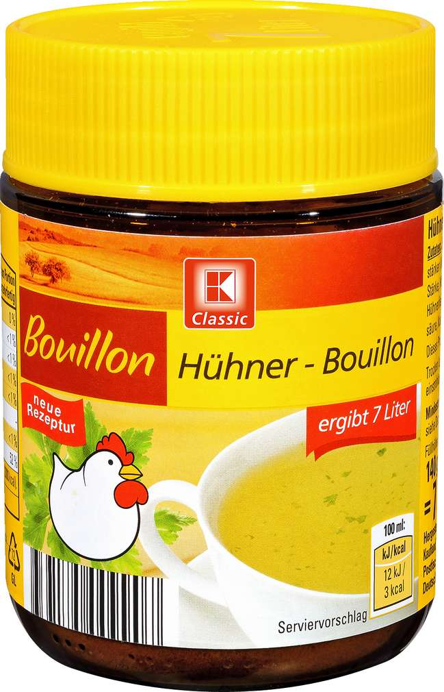 Abbildung des Sortimentsartikels K-Classic Bouillon Hühner- Bouillon 7L