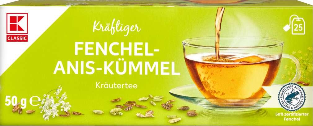 Abbildung des Sortimentsartikels K-Classic Kräutertee Fenchel-Anis-Kümmel 25x2,0g