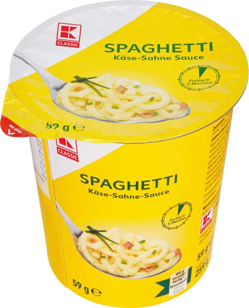 Abbildung des Sortimentsartikels K-Classic Spaghetti Käse-Sahne-Sauce 259g
