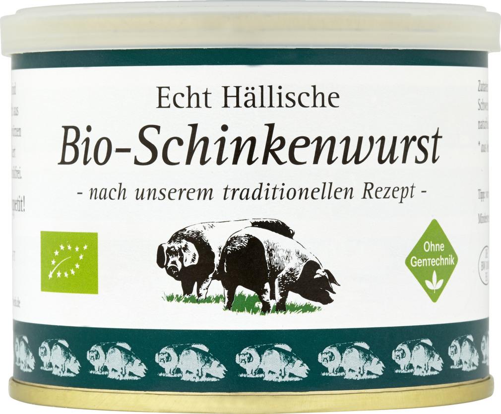 Abbildung des Sortimentsartikels BESH Echt Hällische Bio-Schinkenwurst 200g