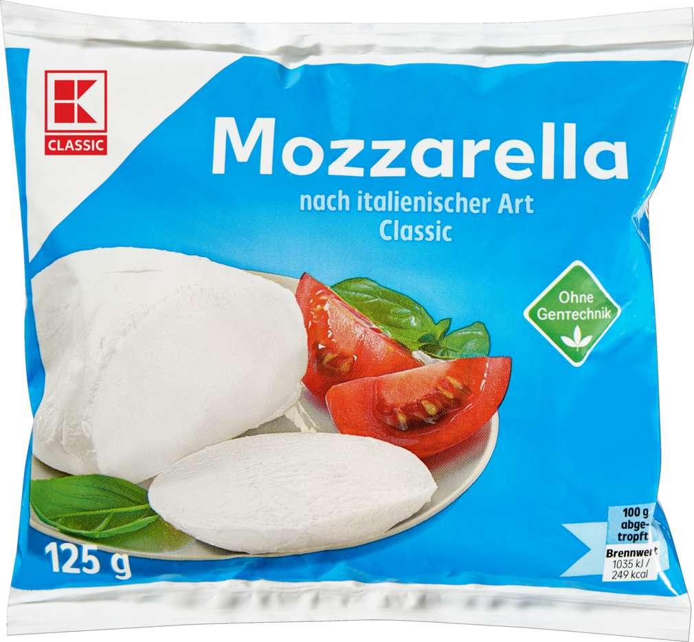 Abbildung des Sortimentsartikels K-Classic Mozzarella 125g
