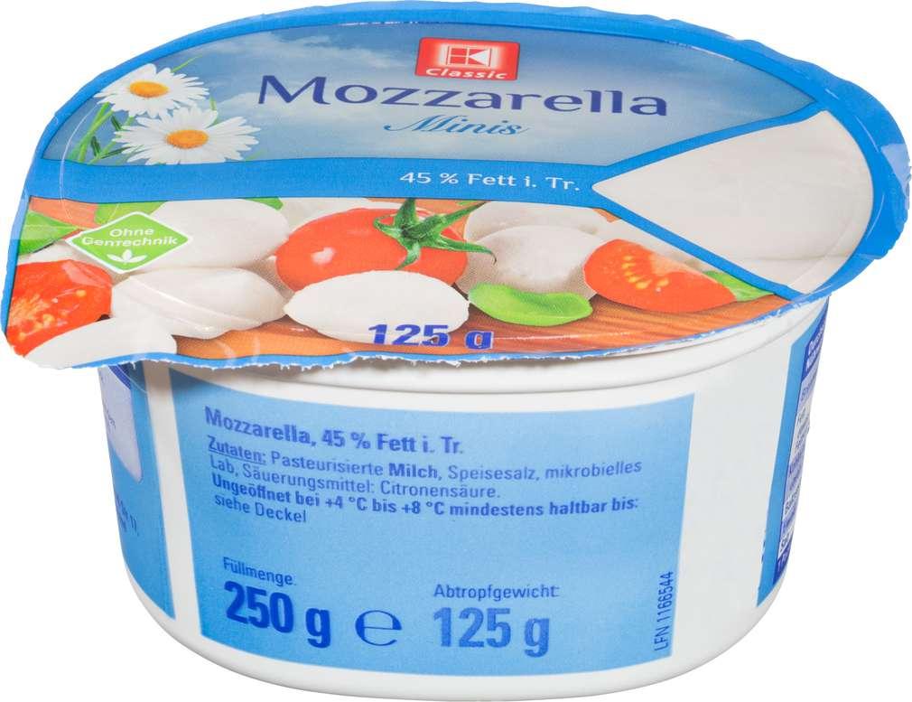 Abbildung des Sortimentsartikels K-Classic Mozzarella Mini 125g