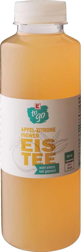 Abbildung des Sortimentsartikels K-To Go Eistee Apfel-Zitrone-Ingwer 0,5l