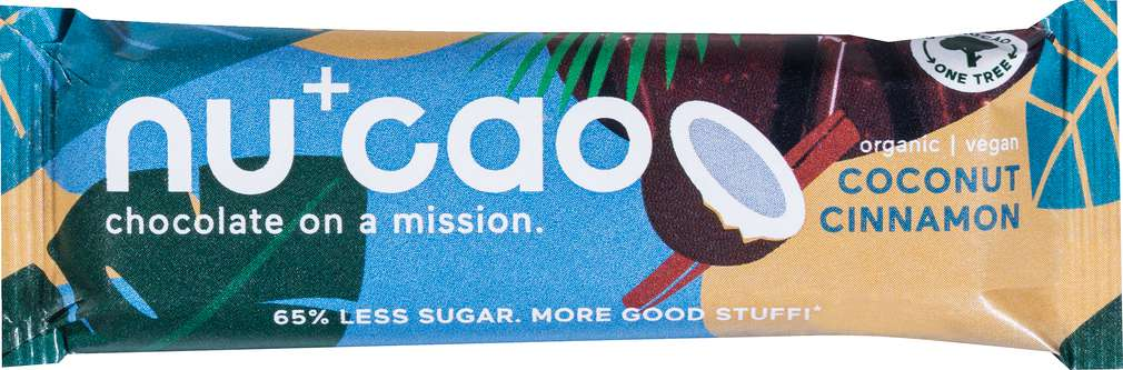 Abbildung des Sortimentsartikels Nucao Bio-Schokoriegel Coconut/Cinnamon vegan 40g