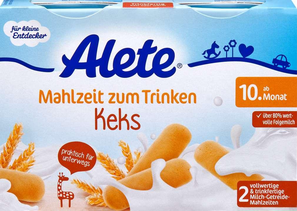 Abbildung des Sortimentsartikels Alete Mahlzeit zum Trinken Keks 2x200ml