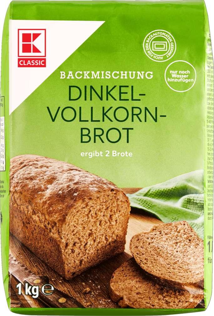 Abbildung des Sortimentsartikels K-Classic Brotbackmischung Dinkelvollkornbrot 1kg