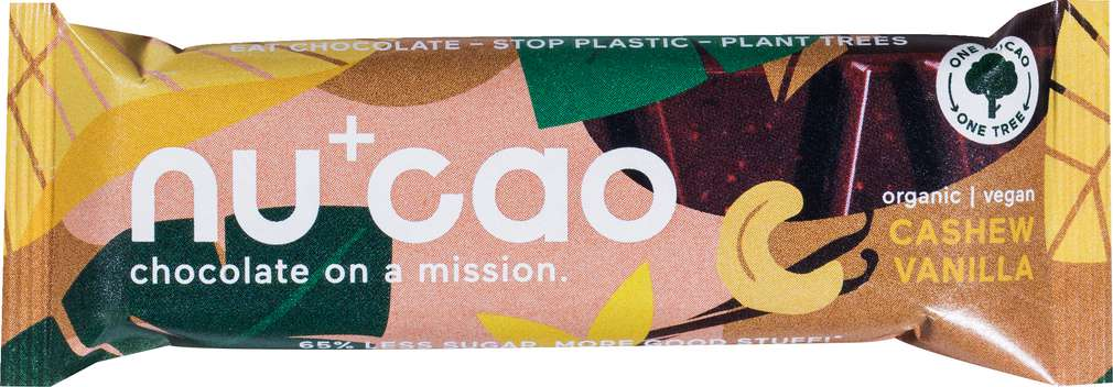 Abbildung des Sortimentsartikels Nucao Bio-Schokoriegel Cashew/Vanilla vegan 40g