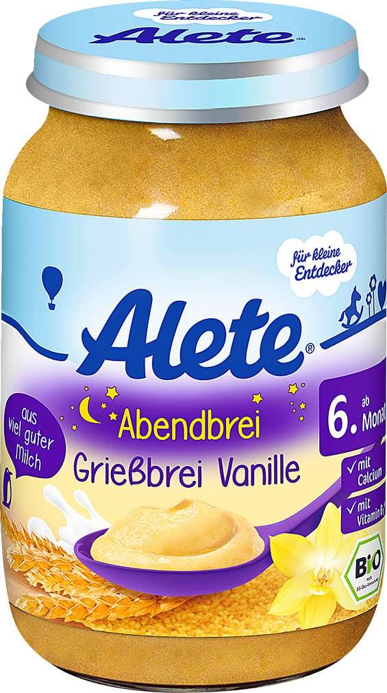 Abbildung des Sortimentsartikels Alete Getreidebrei Vanille 190g