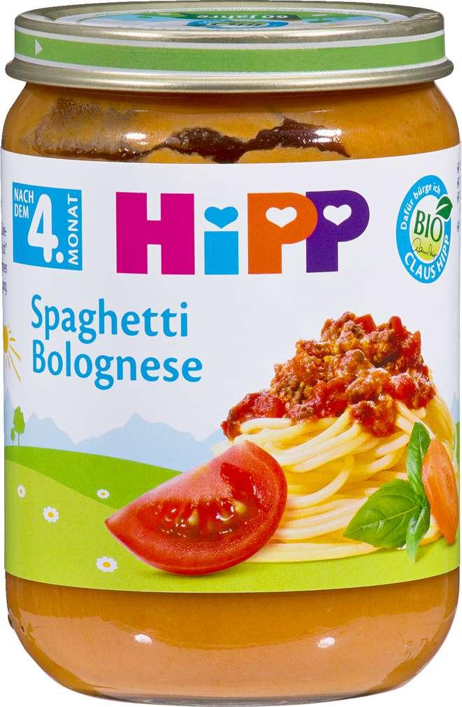 Abbildung des Sortimentsartikels Hipp Spaghetti Bolognese 190g