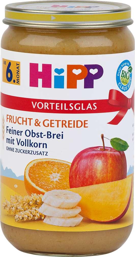 Abbildung des Sortimentsartikels Hipp Frucht & Getreide Feiner Obst-Brei mit Vollkorn 250g