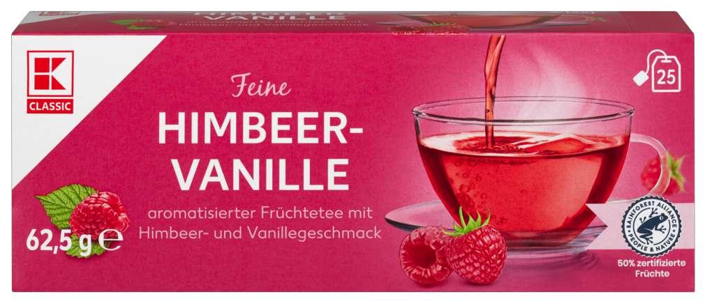 Abbildung des Sortimentsartikels K-Classic Früchtetee Himbeer Vanille 25x2,0g