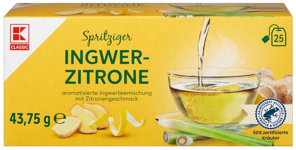 Abbildung des Sortimentsartikels K-Classic Kräutertee Ingwer Zitrone 25x1,75g
