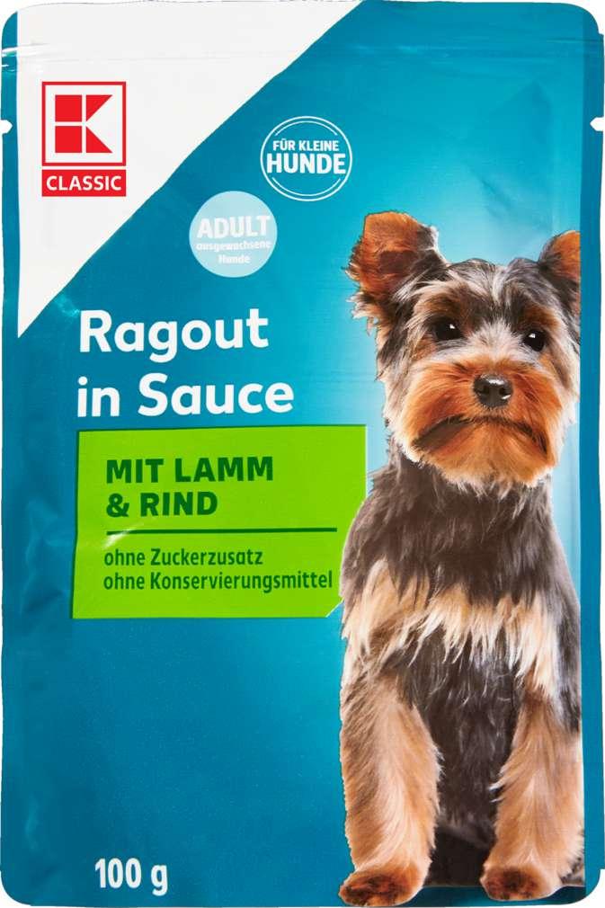 Abbildung des Sortimentsartikels K-Classic Ragout in Sauce mit Lamm & Rind 100g