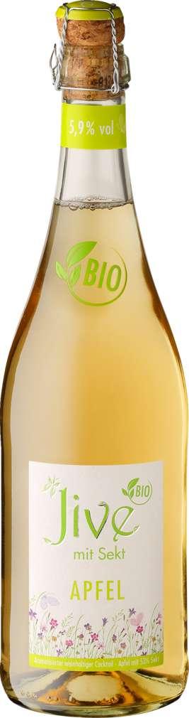 Abbildung des Sortimentsartikels Jive Bio-Sekt und Apfel, weinhaltiger Cocktail 5,9%-Vol. 0,75l