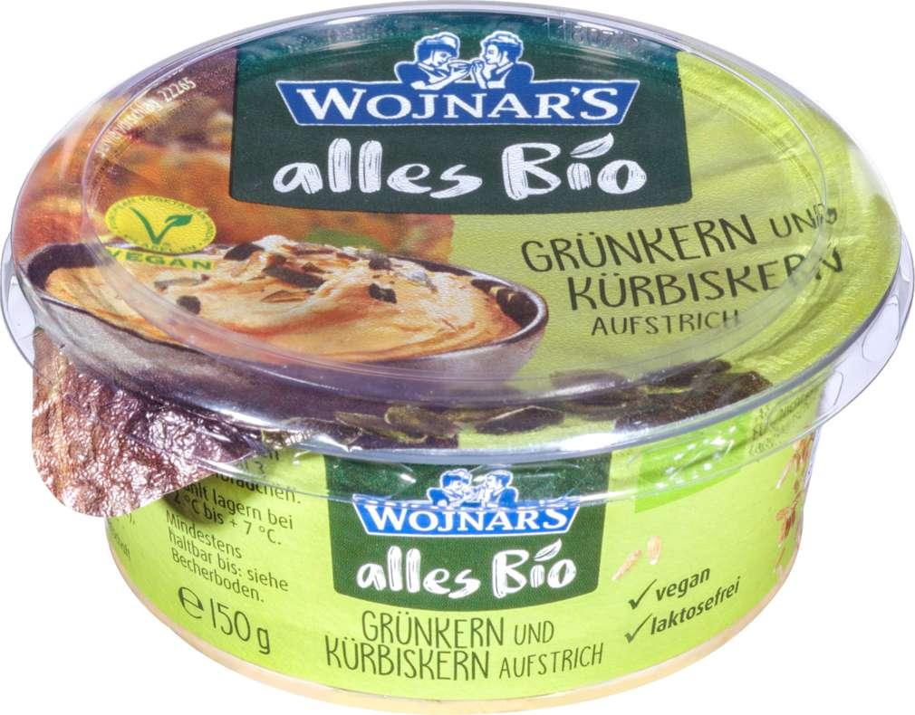 Abbildung des Sortimentsartikels Wojnar Bio-Brotaufstrich Grünkern-Kürbiskern 150g