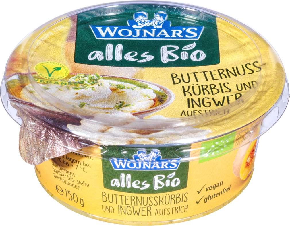 Abbildung des Sortimentsartikels Wojnar Bio-Brotaufstrich Butternusskürbis Ingwer 150g