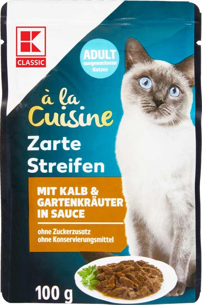Abbildung des Sortimentsartikels K-Classic zarte Streifen mit Kalb & Gartenkräuter in Sauce 100g