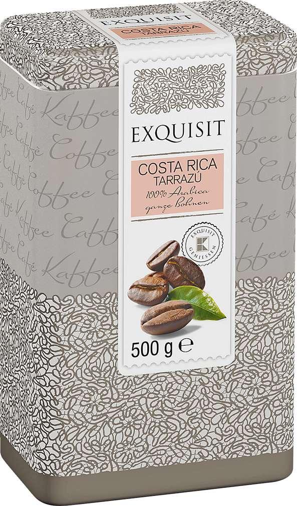 Abbildung des Sortimentsartikels Exquisit Costa Rica Tarrazú 100% Arabica ganze Bohnen 500g