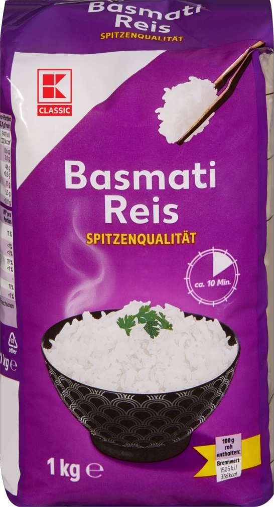 Abbildung des Sortimentsartikels K-Classic Basmatireis 1kg