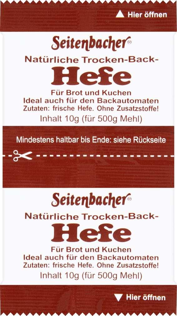 Abbildung des Sortimentsartikels Seitenbacher Trockenbackhefe natürlich 2x10g