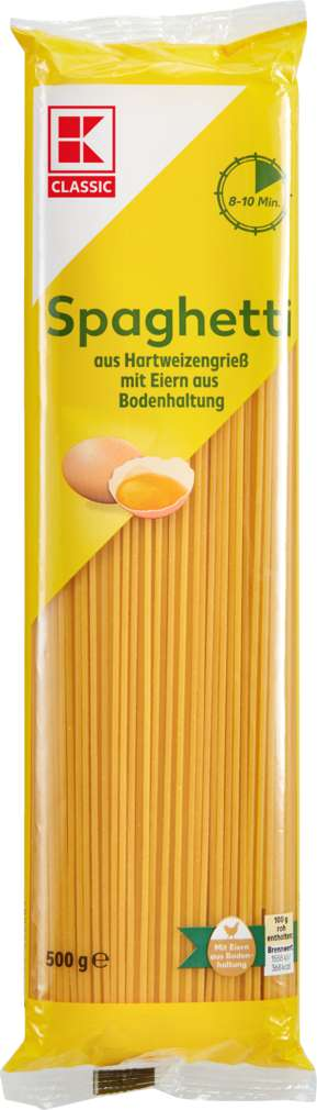 Abbildung des Sortimentsartikels K-Classic Spaghetti mit Ei 500g