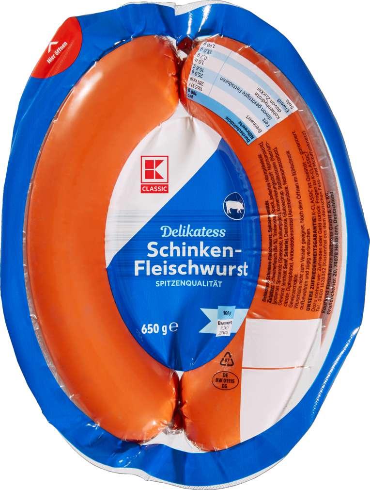 Abbildung des Sortimentsartikels K-Classic Delikatess Schinkenfleischwurst 650g