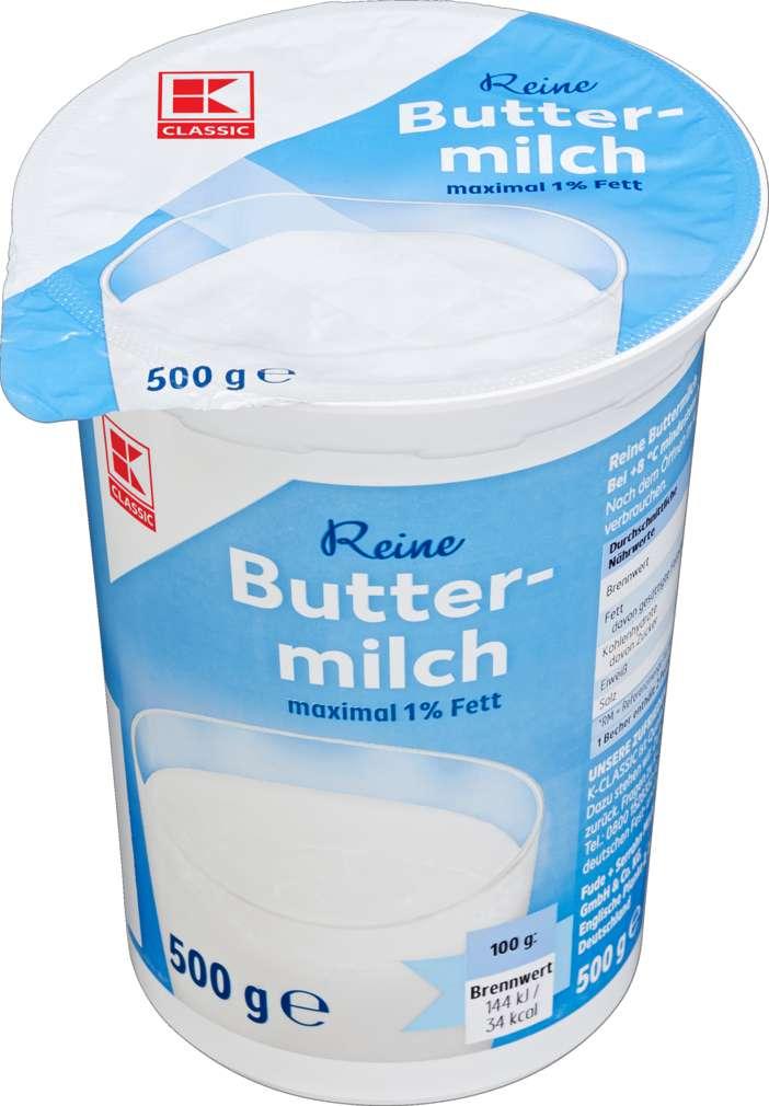Abbildung des Sortimentsartikels K-Classic Reine Buttermilch maximal 1% Fett 500g