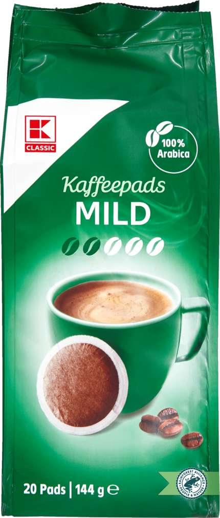 Abbildung des Sortimentsartikels K-Classic Kaffeepads Mild 144g