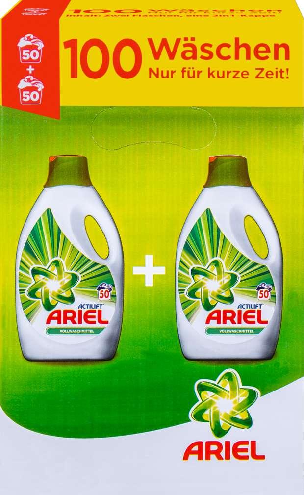 Abbildung des Sortimentsartikels Ariel Flüssig Vollwaschmittel 2x2,75L