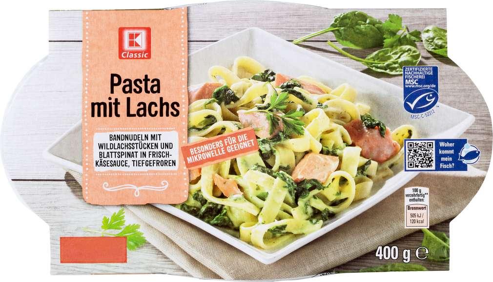 Abbildung des Sortimentsartikels K-Classic Pasta mit Lachs tiefgefroren 400g