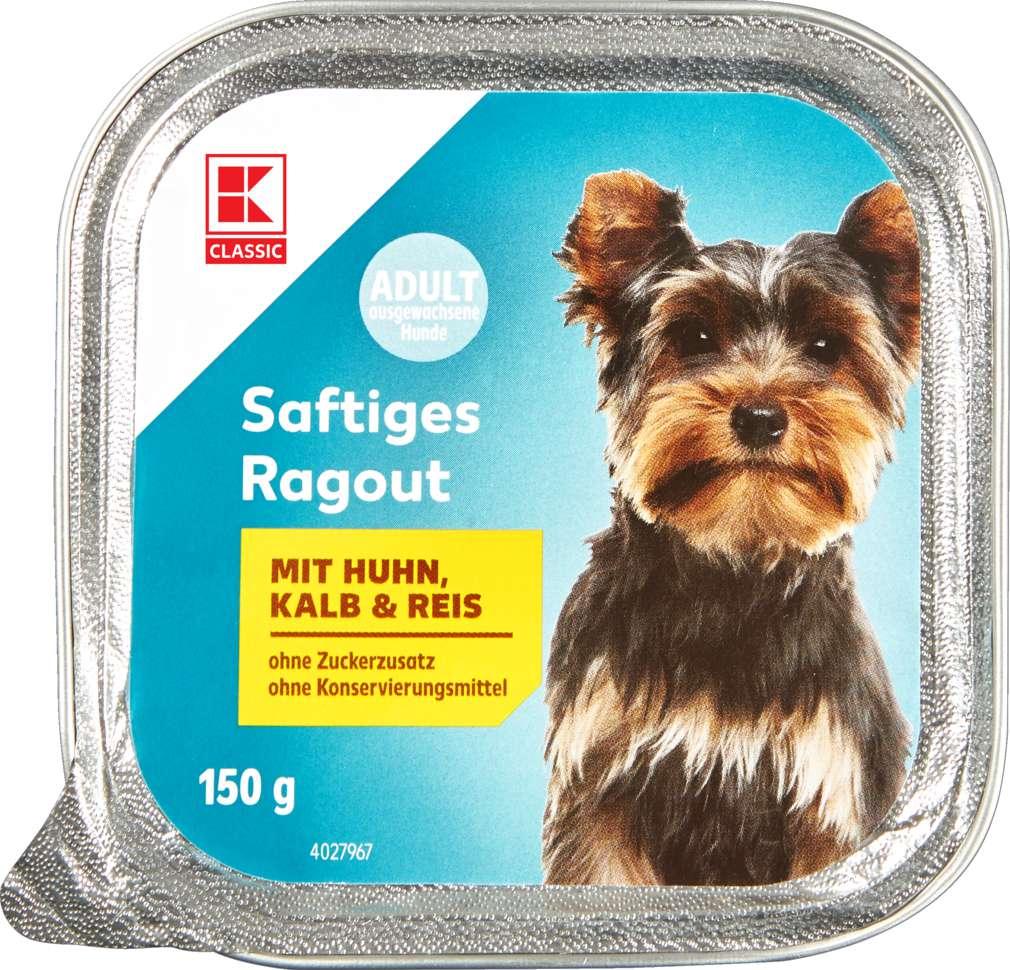 Abbildung des Sortimentsartikels K-Classic Hundenahrung Huhn+Kalb+Reis 150g