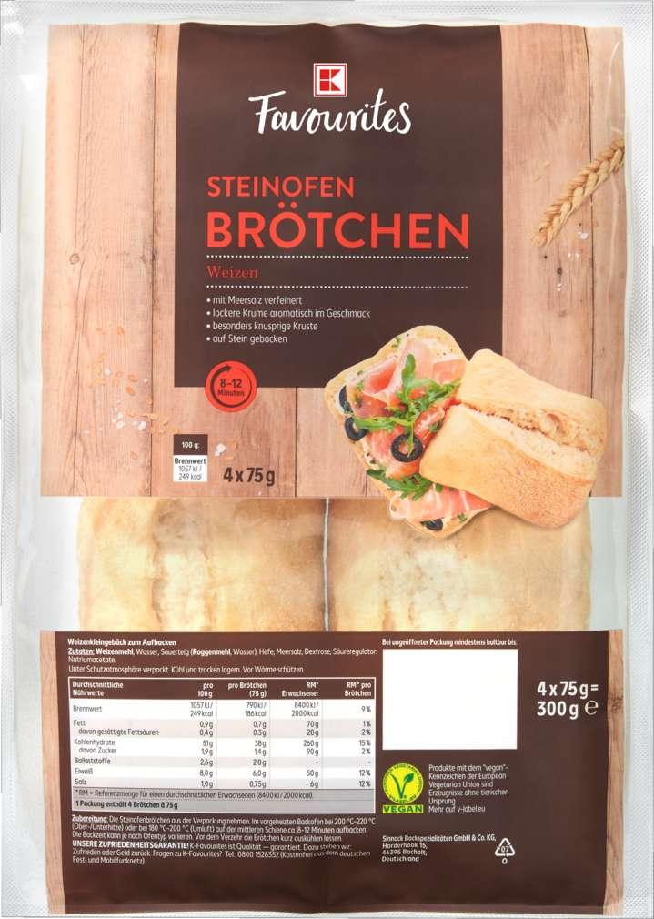 Abbildung des Sortimentsartikels K-Favourites Steinofenbrötchen Weizen 300g