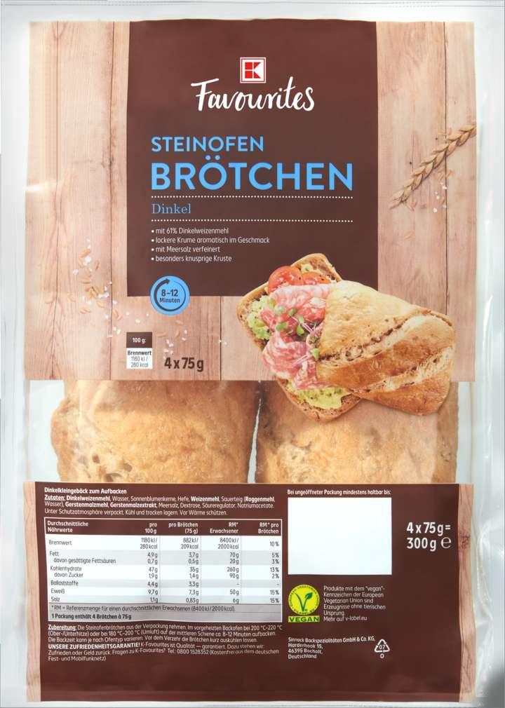 Abbildung des Sortimentsartikels K-Favourites Steinofenbrötchen Dinkel 300g