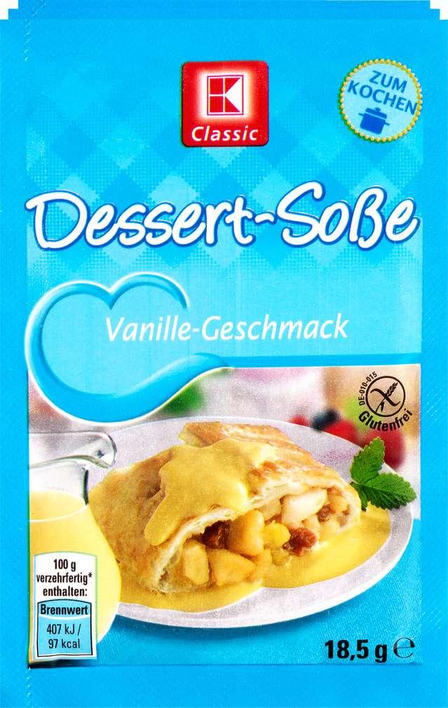 Abbildung des Sortimentsartikels K-Classic Dessert-Soße Vanille Geschmack 3x18,5g